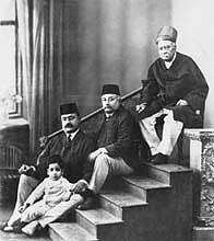 Four Generations: (r-l) Chabildas Lalubhai (father), Ramdas Chabildas (son), Suryakant Ramdas (grandson) & Janak Ramdas (great-grandson)